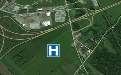 Terrain futur hôpital Vaudreuil-Soulanges emplacement